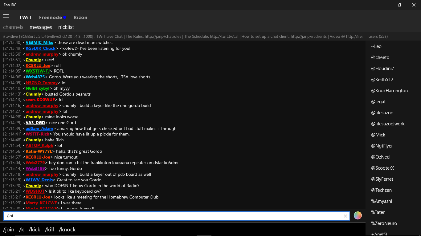 how to join irc channel